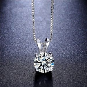 Long Pendant Crystal necklace
